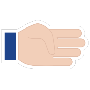 Hands Four Fingers LH Emoji Sticker