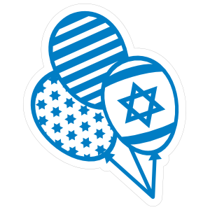 Star of David Balloons Sticker