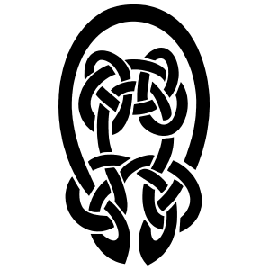 Celtic Knot Oval Sticker