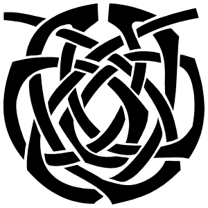 Lovely Celtic Knot Circle Sticker
