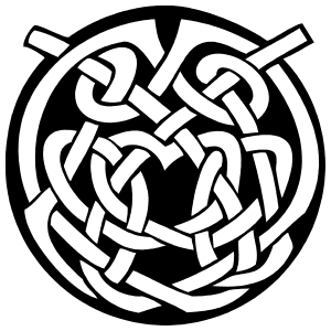 Pretty Celtic Knot Circle Sticker