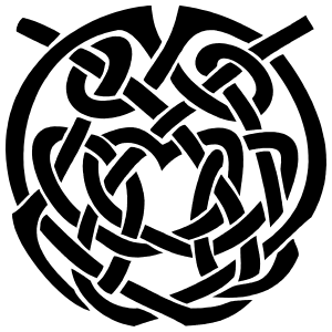 Celtic Knot Circle Sticker