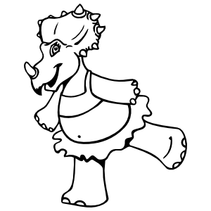 Centrosaurus Dinosaur In A Tutu Sticker