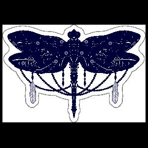 Hippie Dragonfly Sticker