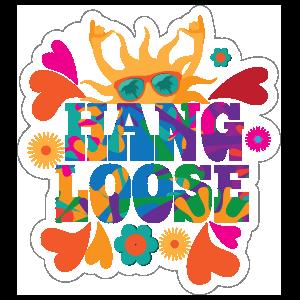 Hang Loose Hippie Sticker