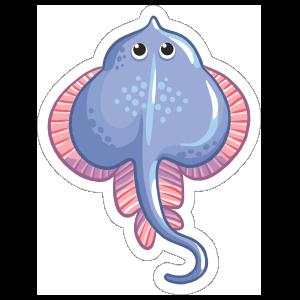 Charming Stingray Sticker