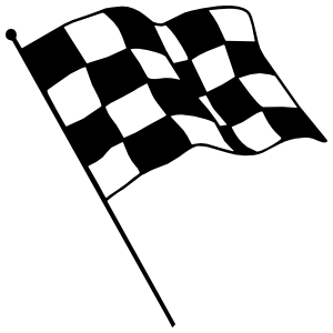 Checkered Racing Flag Sticker