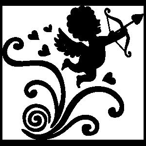 Cherub Angel With Bow And Arrow Sticker
