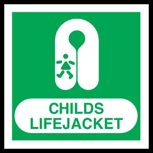 Child's Lifejacket Sign Magnet