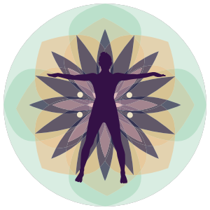 Circle Flower Yoga Sticker