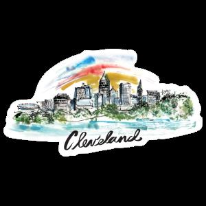 Cleveland Painted Skyline Sticker