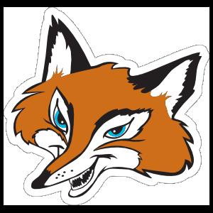 Clever Fox Mascot Sticker