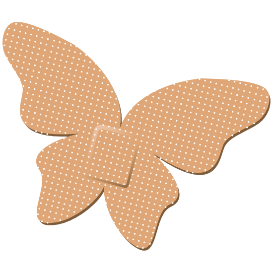Butterfly Band Aid Bandage Magnet