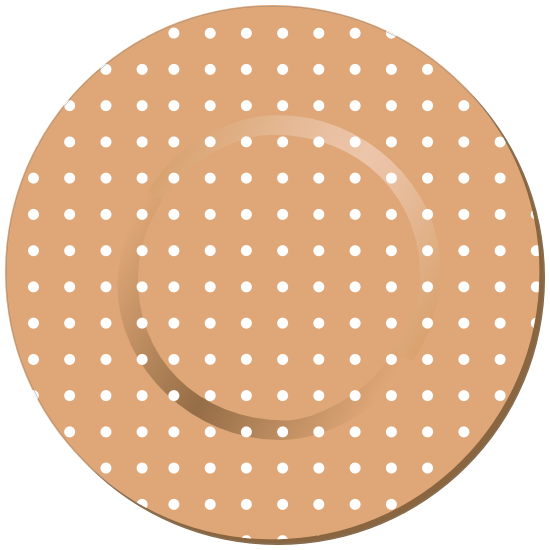 Round Band Aid Bandage Sticker
