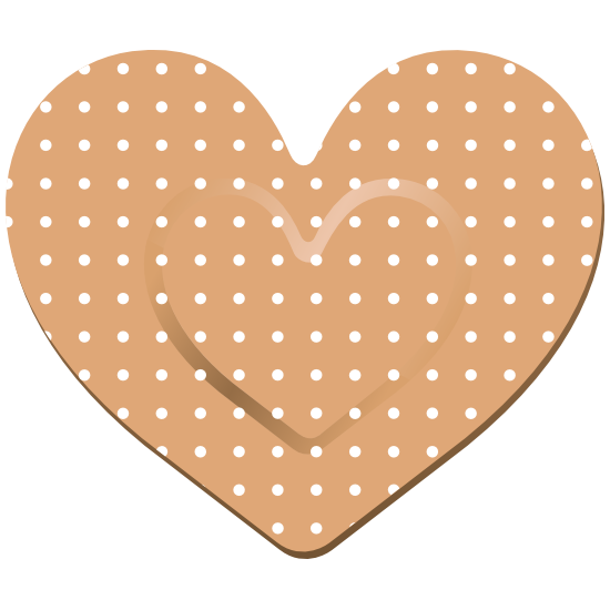 Pretty Heart Band Aid Bandage Magnet