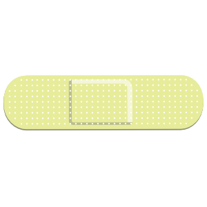 Lime Green Band Aid Bandage Sticker
