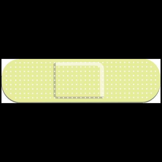 Lime Green Band Aid Bandage Sticker