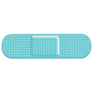 Teal Band Aid Bandage Sticker