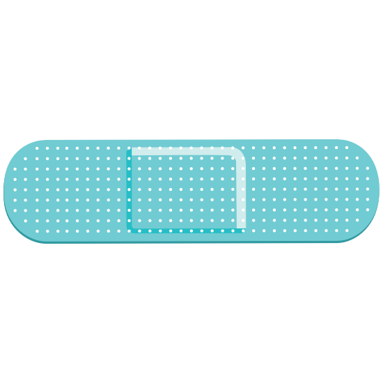 Teal Band Aid Bandage Magnet