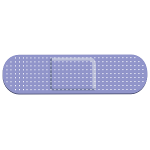 Lilac Band Aid Bandage Sticker