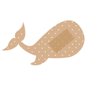Whale Band Aid Bandage Sticker