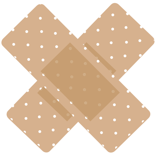 Cute Crossed Band Aid Bandage Sticker