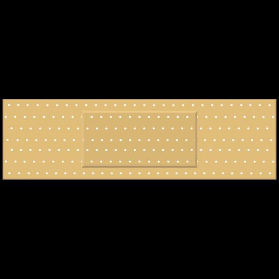 Rectangular Band Aid Bandage Sticker