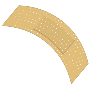 Curvy Band Aid Bandage Sticker