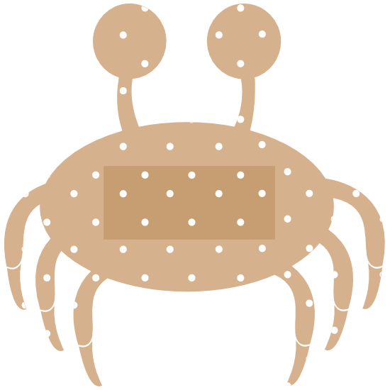 Crab Band Aid Bandage Sticker