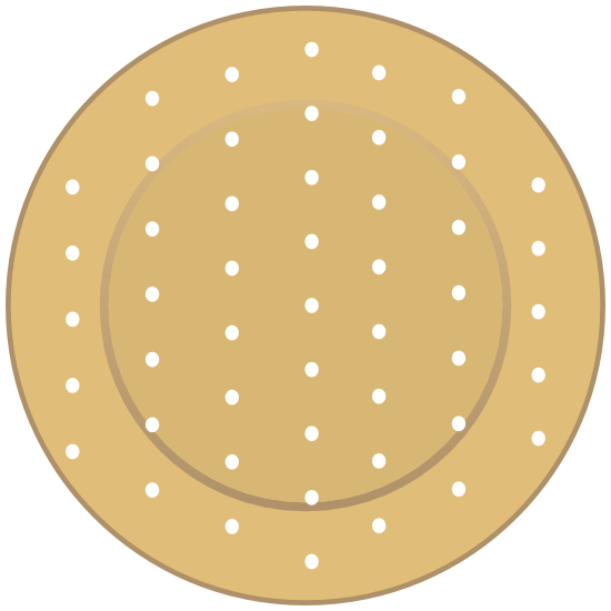 Circular Band Aid Bandage Sticker