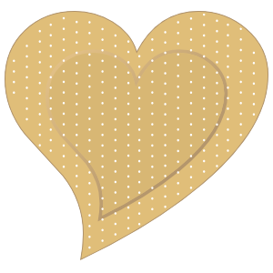 Cute Heart Band Aid Bandage Sticker