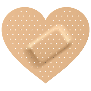 Heart Band Aid Bandage Sticker
