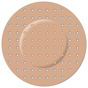 Circle Band Aid Bandage Sticker