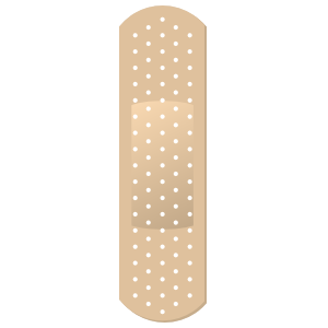 Simple Band Aid Bandage Sticker