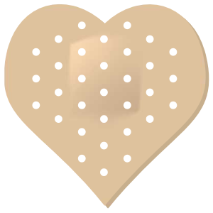Heart Band Aid Bandage Sticker