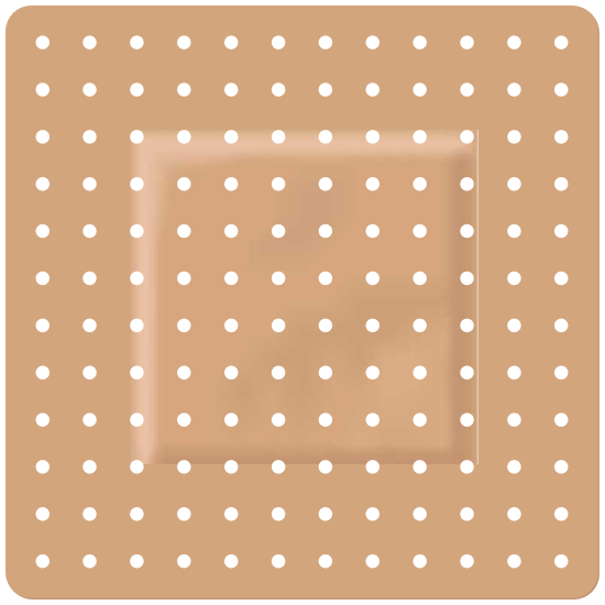Square Band Aid Bandage Sticker