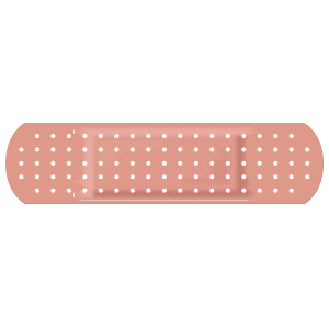 Peach Band Aid Bandage Sticker
