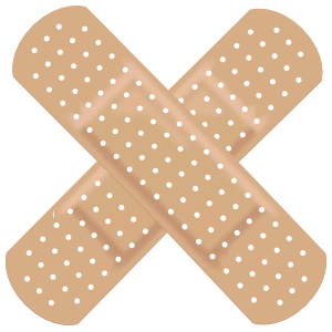 Crossed Band Aid Bandage Sticker