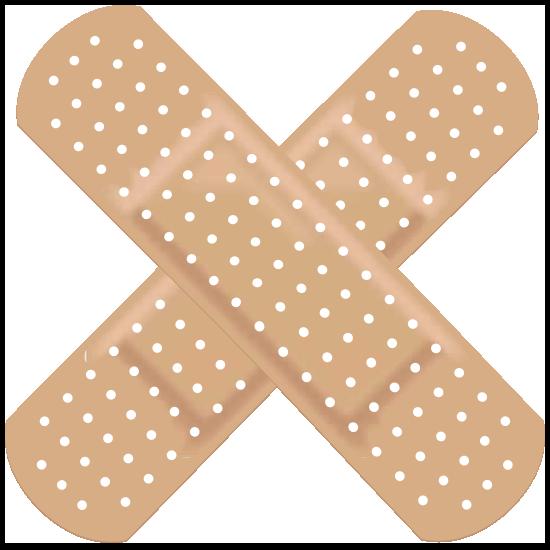 Crossed Band Aid Bandage Magnet