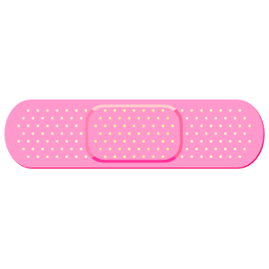 Pink Band Aid Bandage Sticker