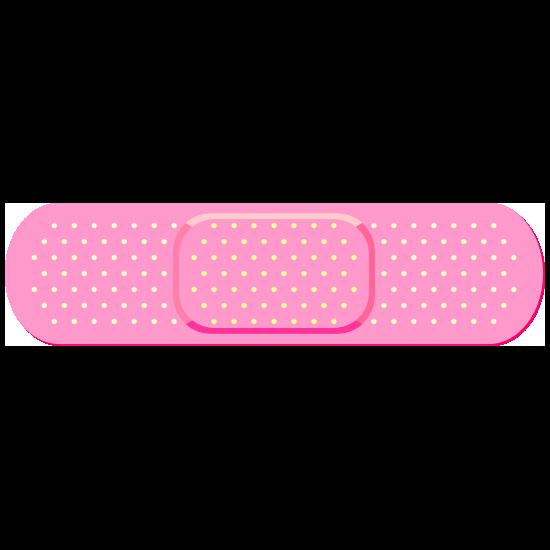 Pink Band Aid Bandage Sticker