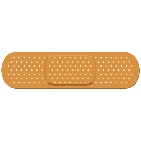 Tan Band Aid Bandage Sticker