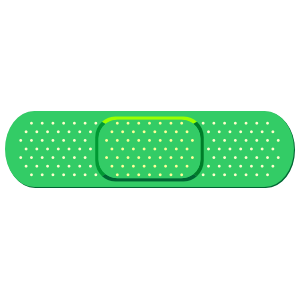 Green Band Aid Bandage Sticker