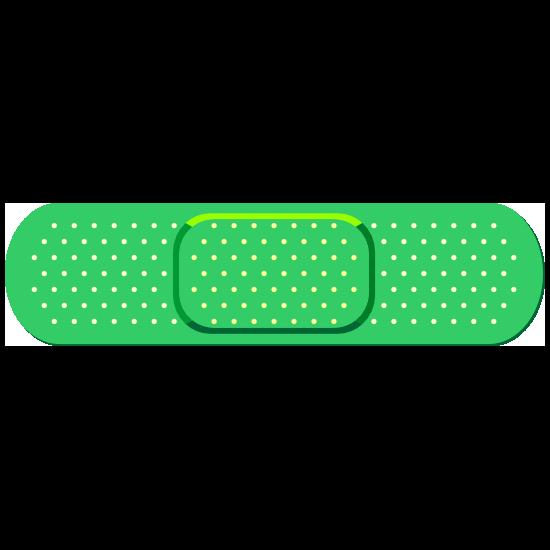 Standard Green Band Aid Bandage Sticker