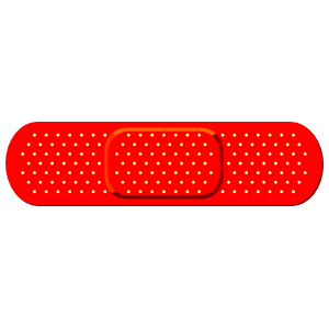 Red Band Aid Bandage Magnet