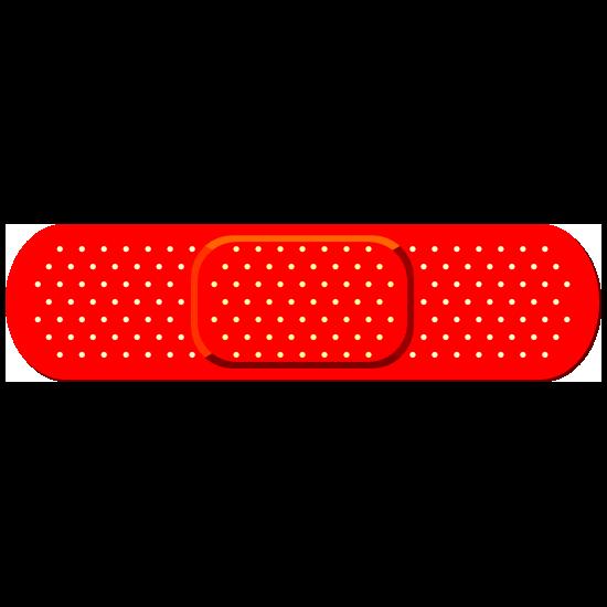 Red Band Aid Bandage Sticker