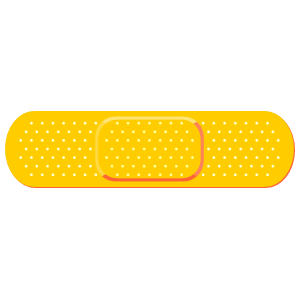Yellow Band Aid Bandage Sticker