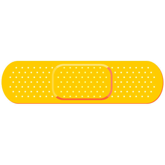 Bright Yellow Band Aid Bandage Sticker
