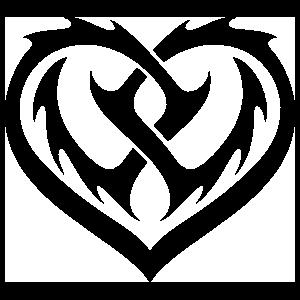 Sawblade Heart Sticker