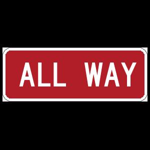 All Way Sticker